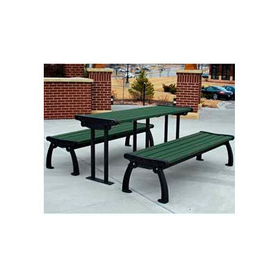 Frog Furnishings Recycled Plastic 6 ft. Heritage Table Black Frame, Green