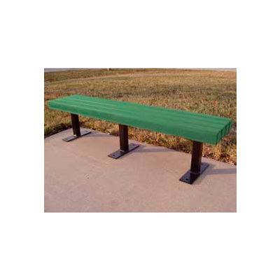 Frog Furnishings Recycled Plastic 6 ft. Trailside Bench, Green Bench/Black Frame