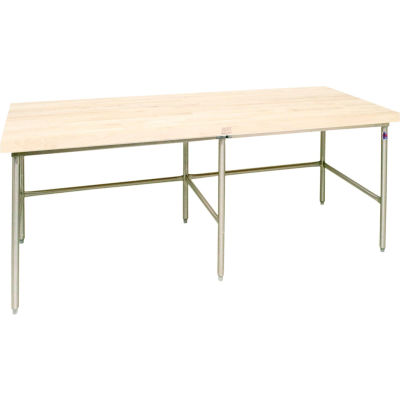 """John Boos Bakery Production Table Frame - NSF Approved Stainless Steel Legs 120""""W x 60""""D"""
