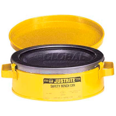 Justrite Bench Can, 2-Quart, Yellow, 10291