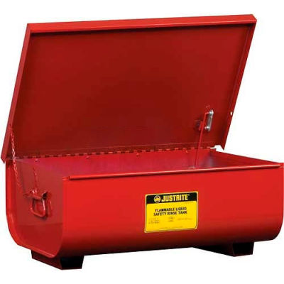 Justrite Bench Top Rinse Tank, 11-Gallon, Red, 27311