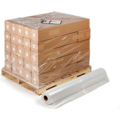 "Pallet Size Shrink Bags on a Roll, 52"" x 43"" x 70"" 4 Mil Clear, 25 per Roll"