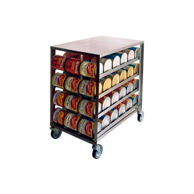 Lakeside® 458-Stainless Steel Can Rack, 72(#10 Cans), 96(#5 Cans)
