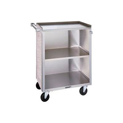 Lakeside® 610 3 Shelf Sd Bussing Cart - 27-3/4X16-1/2 Walnut