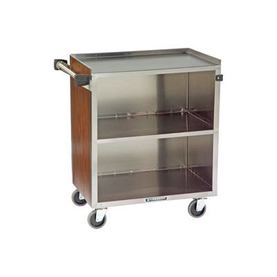 Lakeside® 622 3 Shelf Md Bussing Cart - 30-3/4X19 Walnut