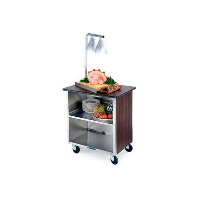 Lakeside® 646 3 Shelf Md Bussing Cart - 36X22 Walnut