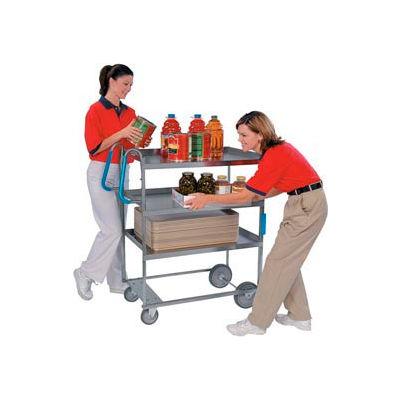 Lakeside® 7025 HD Ergo-One Stainless 3 Shelf Cart 41 x 21 x 46 700 Lb Cap