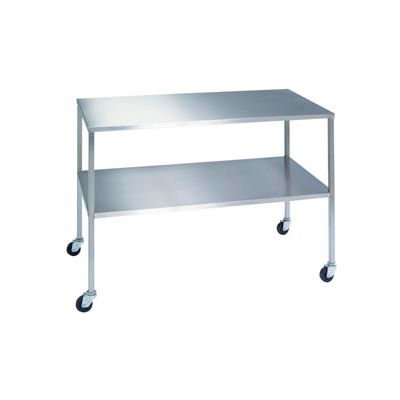 """Lakeside® 8398 Stainless Steel Instrument Table with Shelf - 60""""L x 24""""W x 34""""H"""