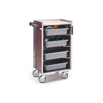 Lakeside® 890LM 4 Shelf Md Bussing Cart - 27-3/4X17-5/8 Light Maple