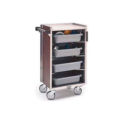 Lakeside® 890RM 4 Shelf Md Bussing Cart - 27-3/4X17-5/8 Red Maple