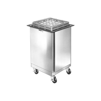 """Lakeside® 998, Enclosed Mobile Tray And Glass Dispenser - 23"""" X 25"""""""