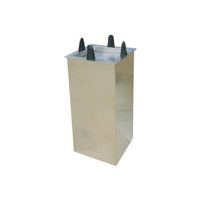 """Lakeside® S5010, Square Shielded Drop-In Plate Dispenser - 9-1/2"""" To 10-1/4"""" Plates"""