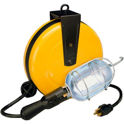 Lind Equipment LE2530B 30' 16/3 SJT Cable Reel, LE105 Incandescent Work Light With 9A Outlet