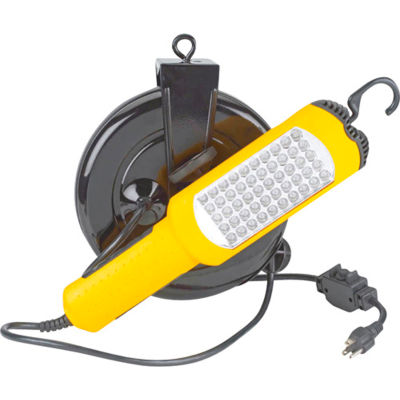 Lind Equipment LE2430L50 30' 16/3 SJTW Cable Reel, 50 LED Work Light W/ 10A Cb Outlet In Handle
