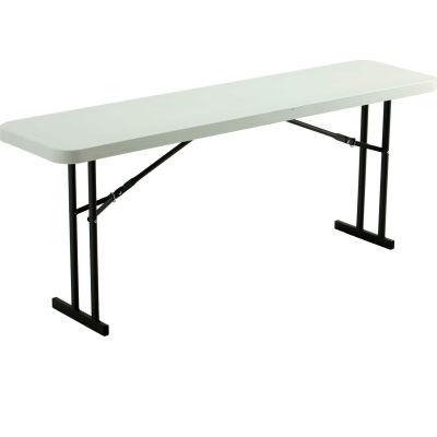 "Lifetime 72"" x 18"" Folding Seminar Table"