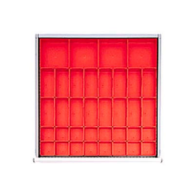 """SC Drawer Layout, 36 Plastic Boxes 2"""" H"""