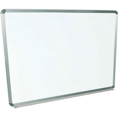 "Global Industrial™ Steel Surface Magnetic Whiteboard With Aluminum Frame, 48""W x 36""H"