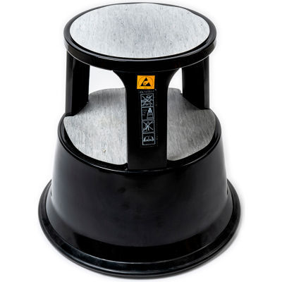 LPD Trade Static Dissipative Kick Step Stool W/ 3 Conductive Spring Loaded Casters - C8000