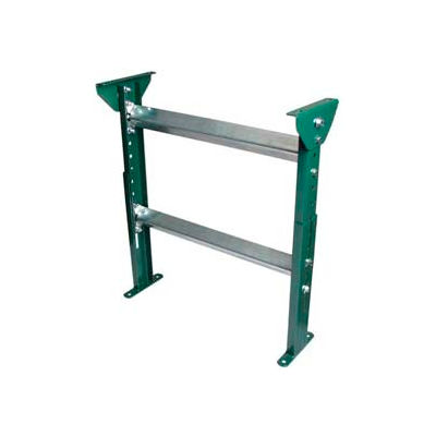 """H-Stand Support for Ashland 12"""" OAW Skatewheel & 10"""" BF Roller Conveyor - 19-1/2"""" to 31""""H"""