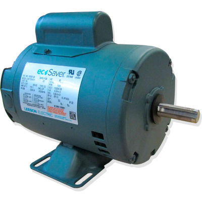 Leeson E100354.00, 1/3HP, 3600RPM, S56C ODP 115/230V, 1PH 60HZ Cont. 40C 1.1SF, C-Face Footless