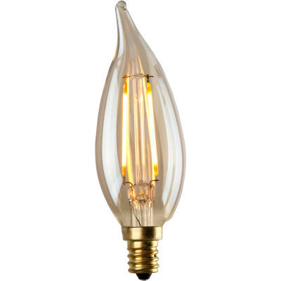 LuminanceL7580-2 CA12 Flame Tip Nostalgia LED Filament Bulb in Amber, 1,5W, 130 Lumens, 2500K