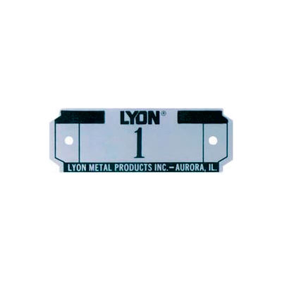 Lyon Number Plate For All Lockers And Baskets, Specify # On Order
