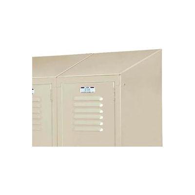 "Lyon Slope Top Kit DD58331 For Lyon Lockers One-Wide - 15""Wx15""D - Gray"