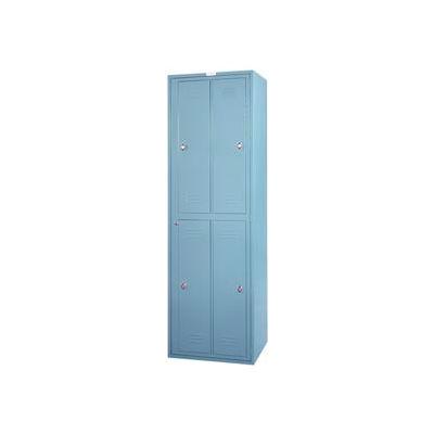 "Lyon 4 Door Hanging Garment Exchange Locker W/Combo Locks, 26""Wx21""Dx84""H, Gray, Assembled"