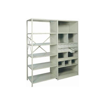 "Shelf Divider, 18""Dx9""H Gray (12) pcs"