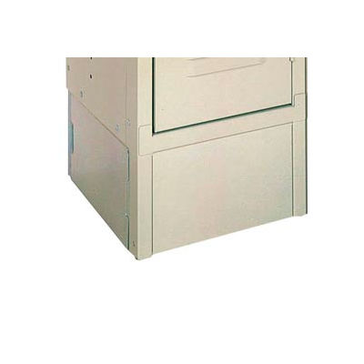 """Lyon Closed Front Locker Base PP5800-3 - 12""""Wx6""""H - 3-Pack - Putty"""