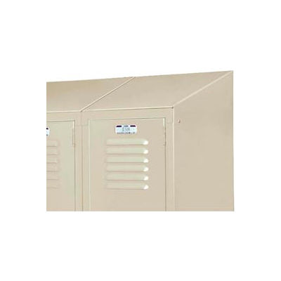 """Lyon Three-Wide Slope Top Kit PP5830 For Lyon Lockers - 12""""Wx12""""D - Putty"""