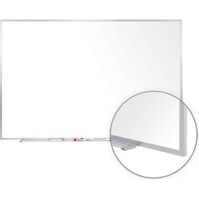 Ghent 4' x 6'H Whiteboard - Porcelain - Aluminum Frame - Marker/Eraser