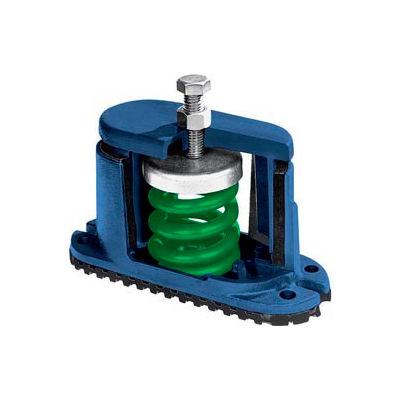 "Housed Spring Floor Mount Vibration Isolator - 5-3/4""L x 2-1/8""W Green"