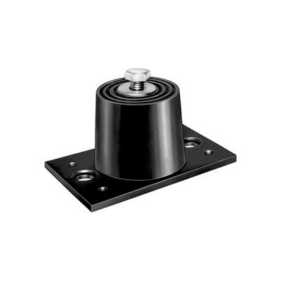 "Neoprene Floor Mount Vibration Isolator - 3-3/16""L x 1-5/8""W x 1-1/2""H Black"
