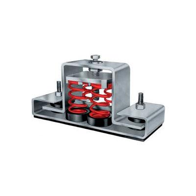 "Floor Mount Seismic & Wind Vibration Isolator - 8-3/4""L x 2-1/2""W Red"