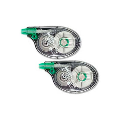 Tombow® Mono Correction Tape, Single-Line, Non-Refillable, 1/6 in x 394 in, White Tape, 2/Pack