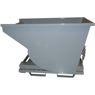 3-Way Forklift Entry Option for Global Industrial™ Self-Dumping Hoppers - Gray