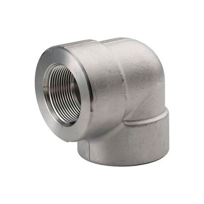 """Ss 304/304l Forged Pipe Fitting 1-1/4"""" 90 Degree Elbow Npt Female - Pkg Qty 3"""