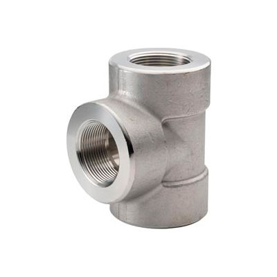 "Ss 304/304l Forged Pipe Fitting 1-1/2"" Tee Npt Female - Pkg Qty 2"
