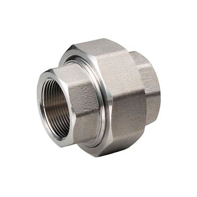"""Ss 304/304l Forged Pipe Fitting 3/8"""" Union Npt Female - Pkg Qty 5"""