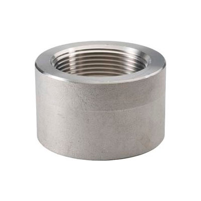"Ss 316/316l Forged Pipe Fitting 3/8"" Half Coupling Npt Female X Plain - Pkg Qty 31"