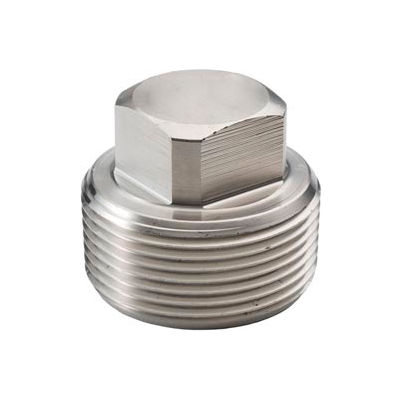 "Ss 316/316l Forged Pipe Fitting 1-1/4"" Square Head Plug Npt Male - Pkg Qty 6"
