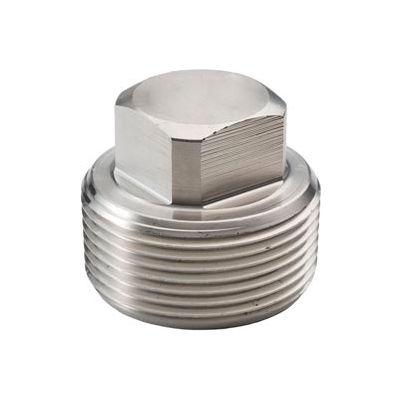"Ss 316/316l Forged Pipe Fitting 3/8"" Square Head Plug Npt Male - Pkg Qty 35"