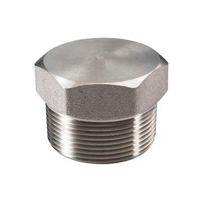 "Ss 316/316l Forged Pipe Fitting 3/4"" Hex Head Plug Npt Male - Pkg Qty 15"
