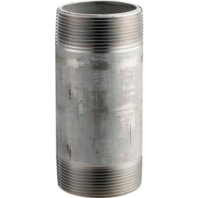 1 In. X 2 In. 304 Stainless Steel Pipe Nipple - 16168 PSI - Sch. 40 - Domestic