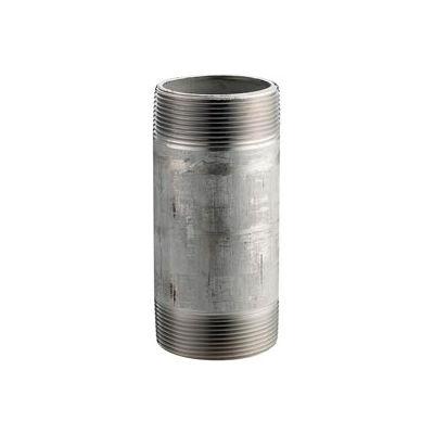 Ss 304/304l Schedule 40 Welded Pipe Nipple 4x12 Npt Male - Pkg Qty 2