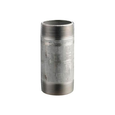 Ss 316/316l Schedule 80 Seamless Extra Heavy Pipe Nipple 1-1/2x2-1/2 Npt Male - Pkg Qty 10