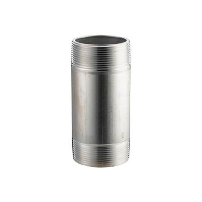 Aluminum Schedule 40 Pipe Nipple 4 X 4 Npt Male - Pkg Qty 8