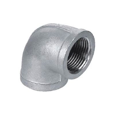 "Iso Ss 304 Cast Pipe Fitting 90 Degree Elbow 3/8"" Npt Female - Pkg Qty 50"