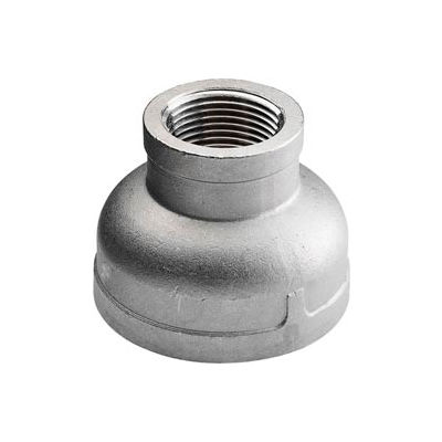"""Iso Ss 304 Cast Pipe Fitting Reducing Coupling 1/2"""" X 3/8"""" Npt Female - Pkg Qty 75"""